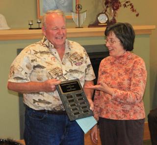 Frances Conklin Receives Bonzey Award 2012