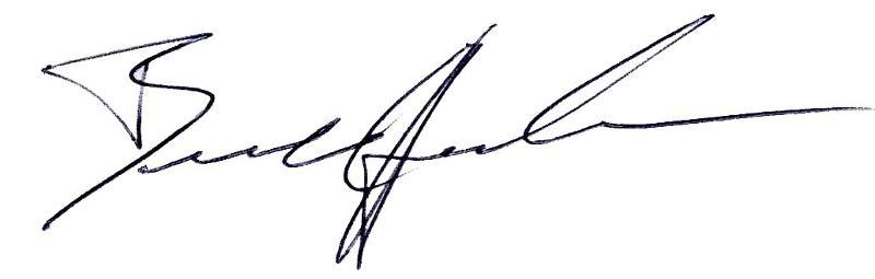 Brandon's signature