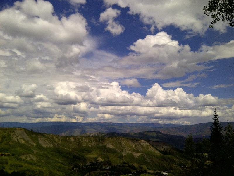 clouds over snowmass