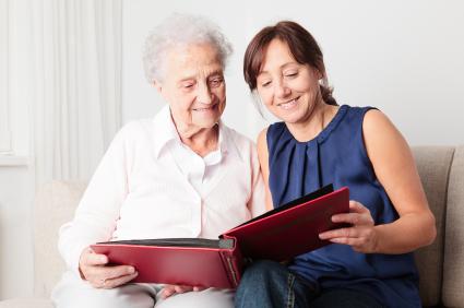 reading to a senior