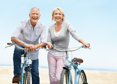 adults with bikes