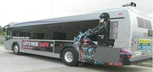 Bus with Graphics