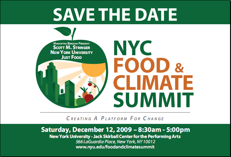 NYC Food and Climate Summit, December 12, 2009