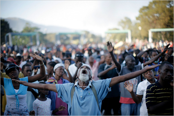 Haitians Mourning, by Damon Winter for The New York Times