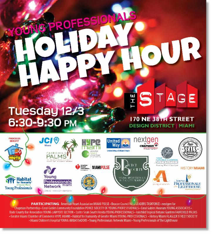 Coral Gables Community Foundation Ponce Society of Young Professionals Holiday Happy  Hour inviation