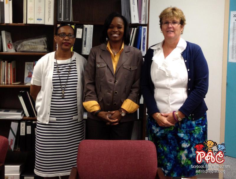 (R to L) Cindy Alderman - Exec Dir MISD Center Programs, Shell Jones - PAC, Beth Alberti, Asst. Superintendant
