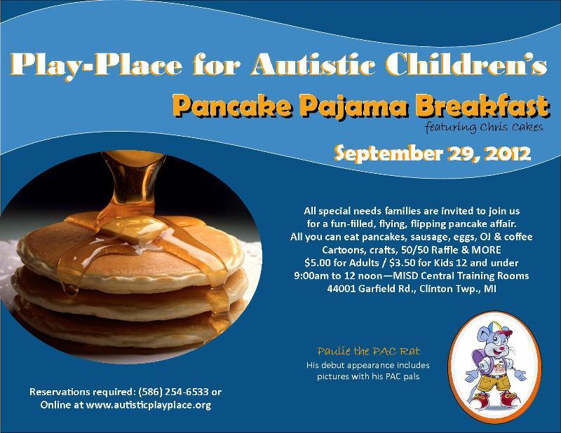Pancake Pajama Breakfast flyer