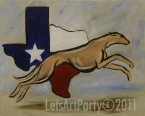 image of greyhound painting