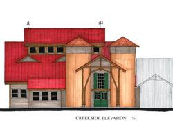 Whitaker Studio Expansion - Creekside Elevation