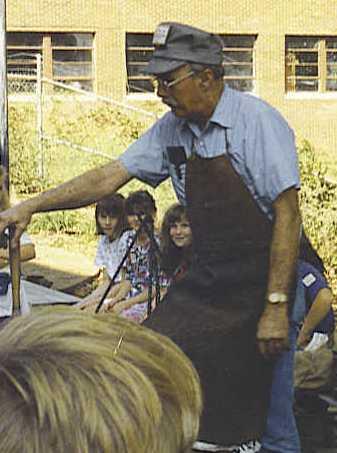 Vance Baker demonstrating