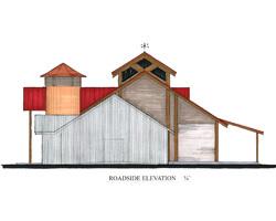 Whitaker Studio Expansion - Roadside Elevation