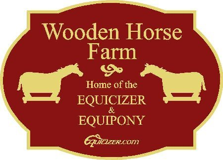 Wooden Horse Farm Sign