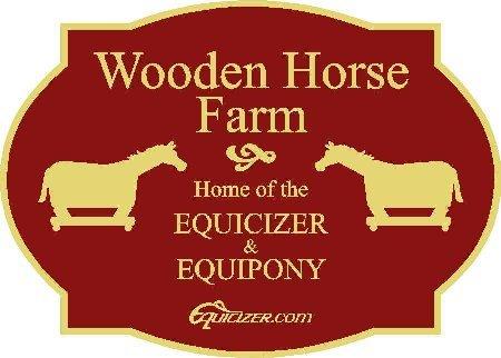 Wooden Horse Farm Sign