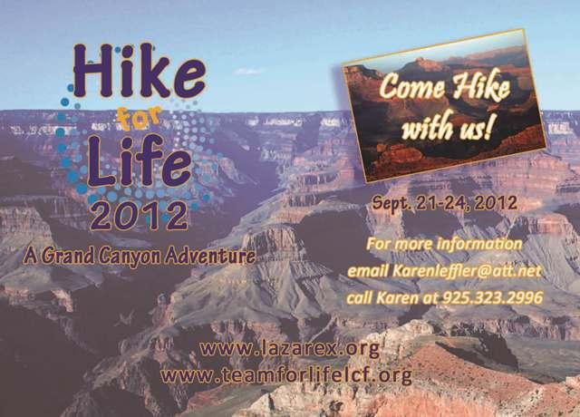 Hike for Life 2012 postcard