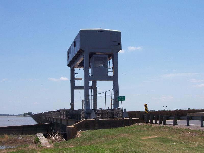 Morganza Floodway control structure