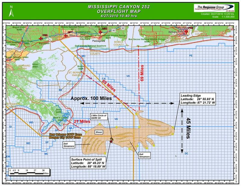 Map Of Oil Slick April 27, 2010