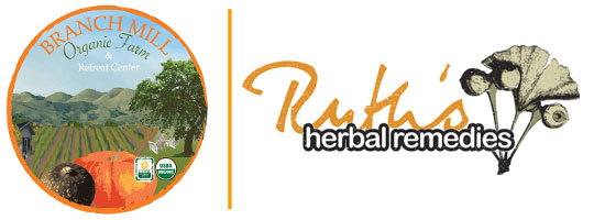 Branch Mill Organic Farm and Ruth Herbal Remedies Logo