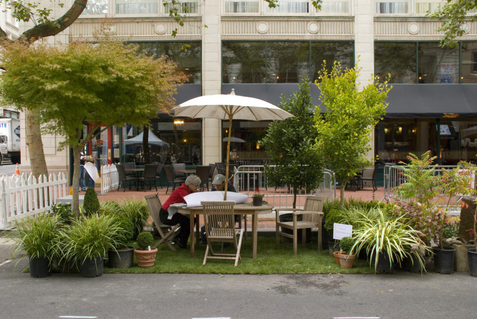 A Park(ing) day photo, courtesy of Dwell Magazine
