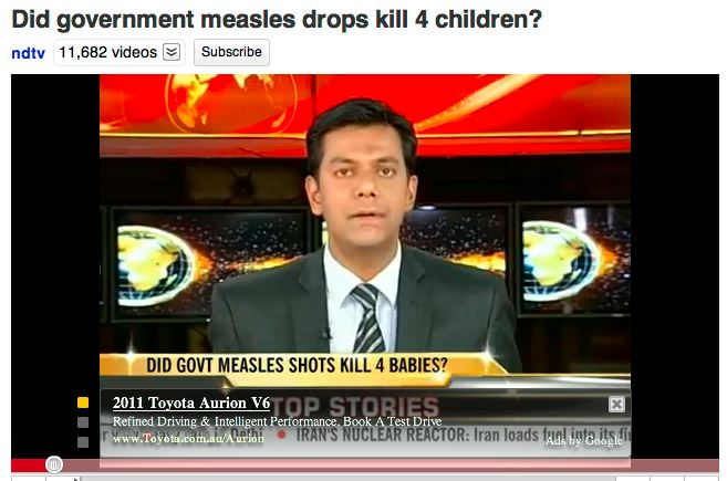Did Measles Vax Kill Babies?