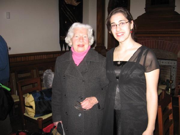 Cara with Faith Warner '45