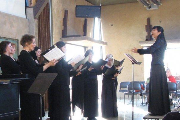 Edna conducting her choir