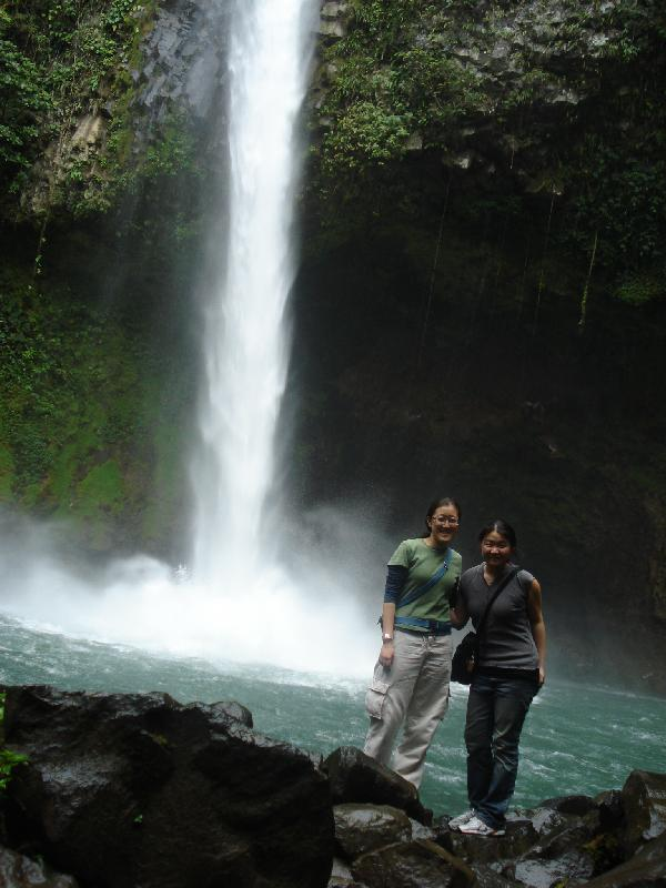 Tour managers Stella and Jenny in Monteverdi, Costa Rica.
