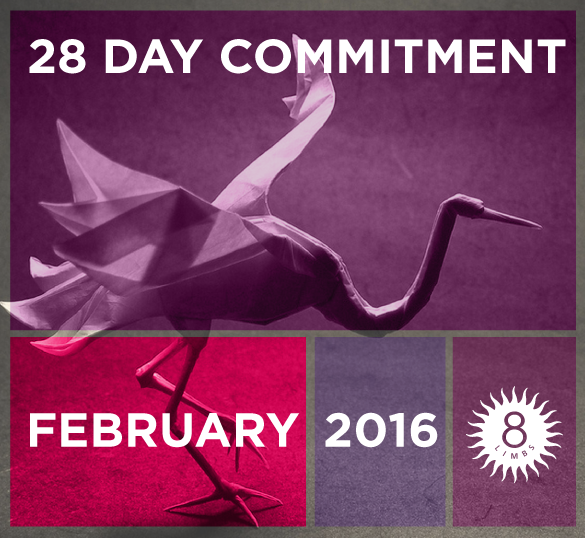Sign up for the 28 Day Commitment 2016
