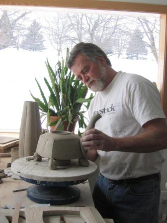 Randy Johnston Designing Teapot