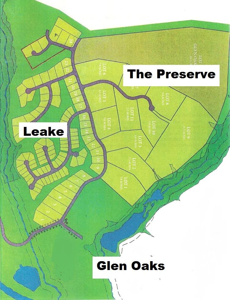 Leake & Glen Oaks map