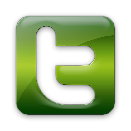 twitter logo green