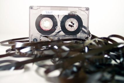 Tangled Dictation Tape