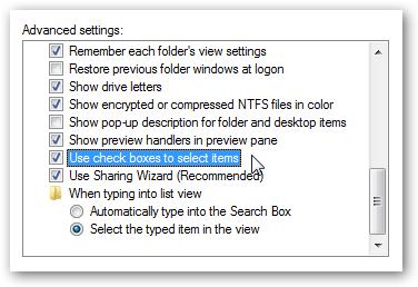 Windows Explorer Check Boxes