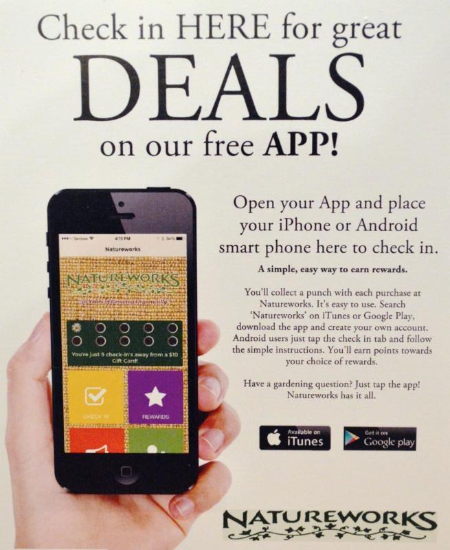 App deals display sign