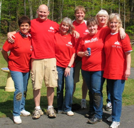 red shirt volunteers
