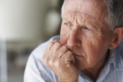 Elderly man worried