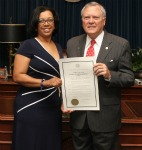 Advocate Marlessia Fontaine with Georgia Governor Nathan Deal