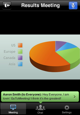 GoToMeeting app screen shot