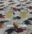 Glenburn Silver Needle, chilled, w/a smidge of agave nectar, in champagne flutes