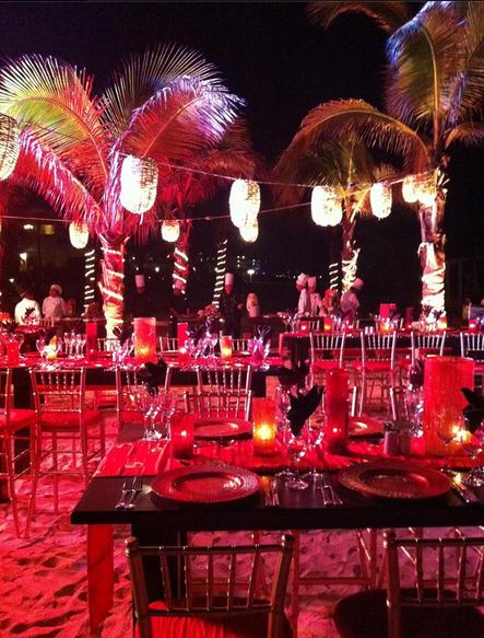 Hyatt Ziva beach party