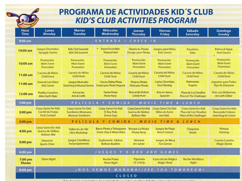 OKI Kids Schedule