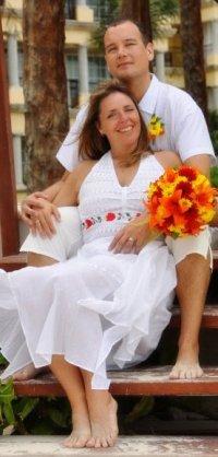 Karen & Les wedding photo