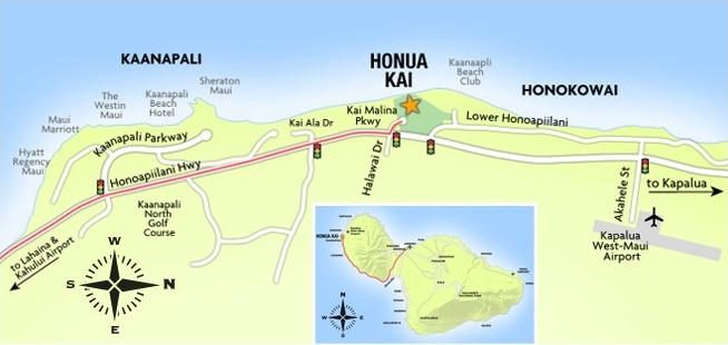 Honua Kai map