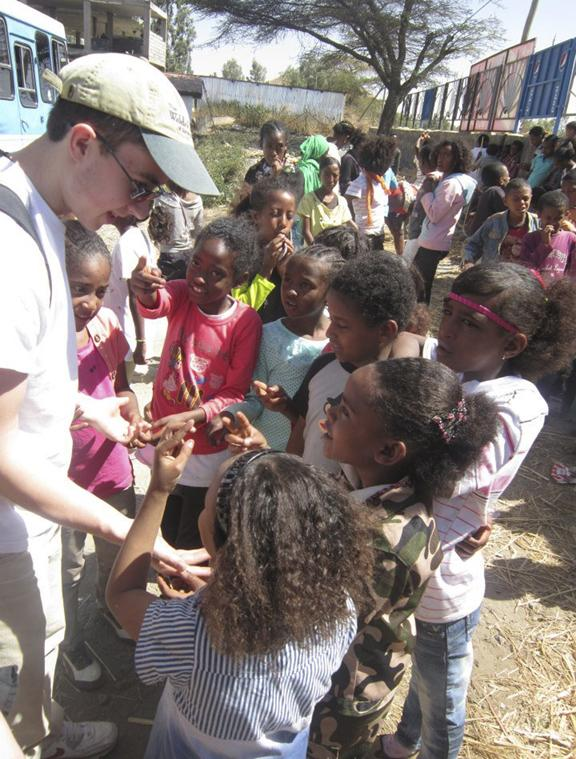 Students from Saratoga Waldorf School in Ethiopia