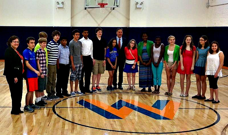 Wolcott Students with Governor Shumlin