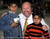 Bob Armstrong with Iraqi boys during 2007 mission trip