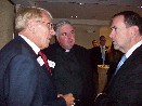William Murray, Rev. Keith Roderick and Gov. Mike Huckabee