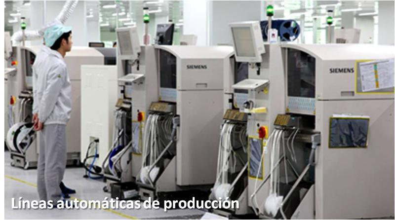 Linhas automáticas de produção