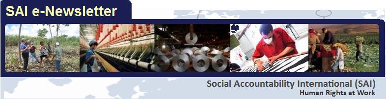 Social Accountability International (SAI) e-Newsletter