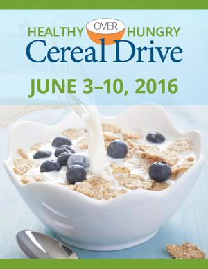 Healthy Over Hungry Cereal Drive