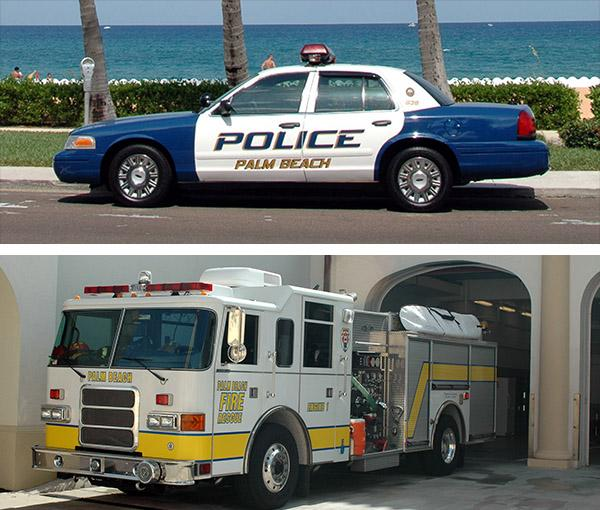 Cops and fire dept